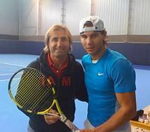 Ali with Rafael Nadal